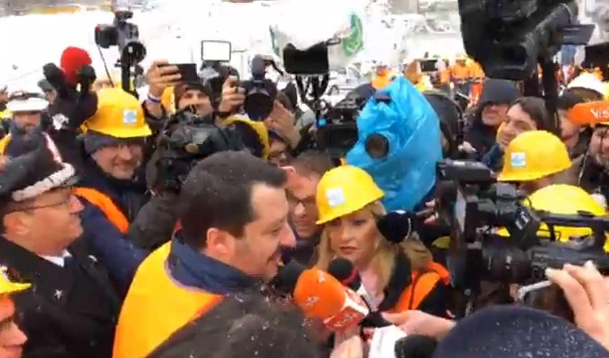 Salvini va in in val di Susa per promuovere il via libera alla Tav. I 5 Stelle non gradiscono