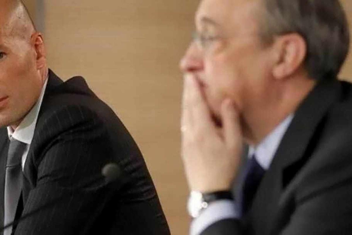 Zinedine Zidane è stato richiamato da Peres alla guida del Real Madrid