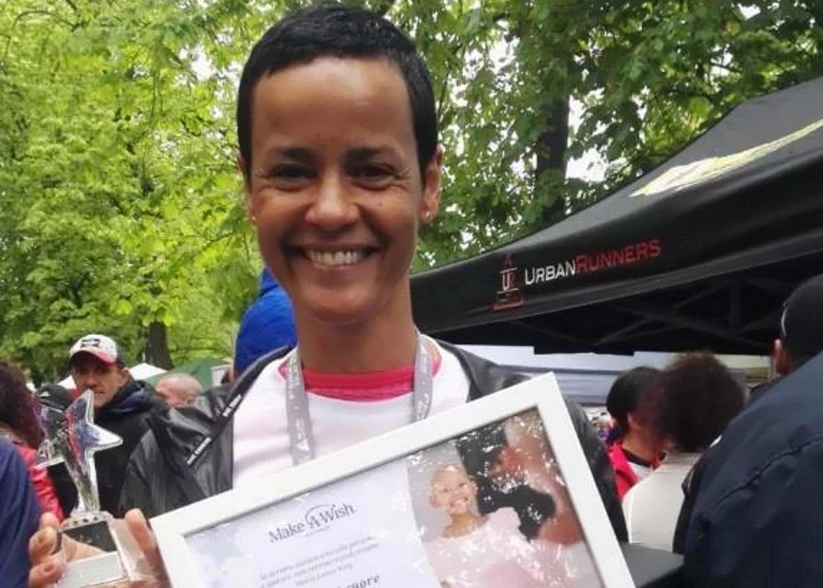 #Corriperunsogno: anche la top model Nadège ha corso con Make-a-Wish Italia onlus la Milano Marathon per realizzare un desiderio dei bambini gravemente malati