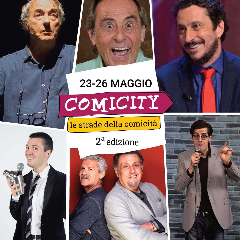 Comicity Festival 2ª edizione Festival della comicità, dal 23 al 26 maggio a Genova