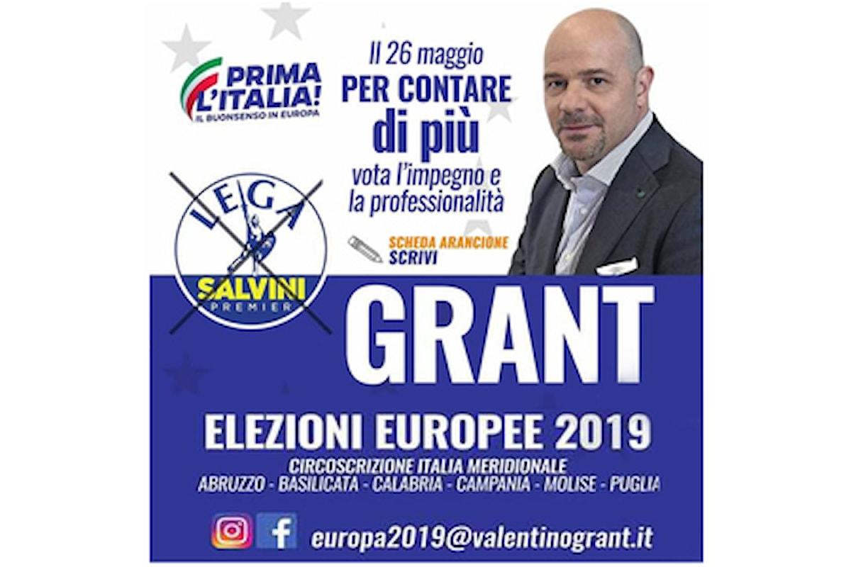 VALENTINO GRANT sostenuto dai LEONI D'ITALIA alle Europe nella circoscrizione Italia Meridionale