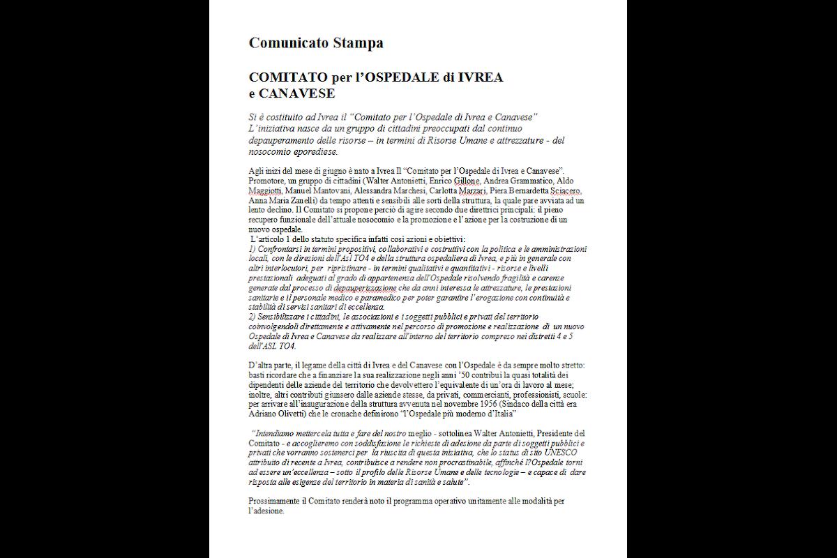 Comitato per l'Ospedale di Ivrea e Canavese