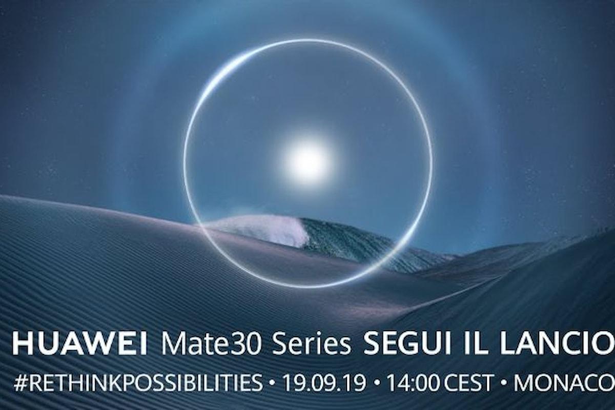 Giovedì verranno presentati i nuovi Huawei Mate 30. Come seguire la presentazione