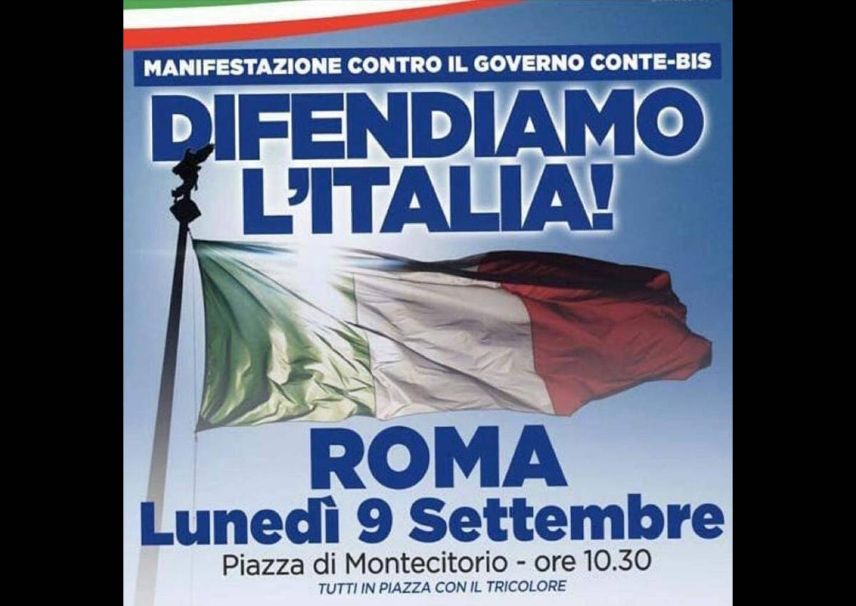 L'ora delle decisioni irrevocabili: l'estrema destra in piazza a Montecitorio per dire no al governo giallorosso