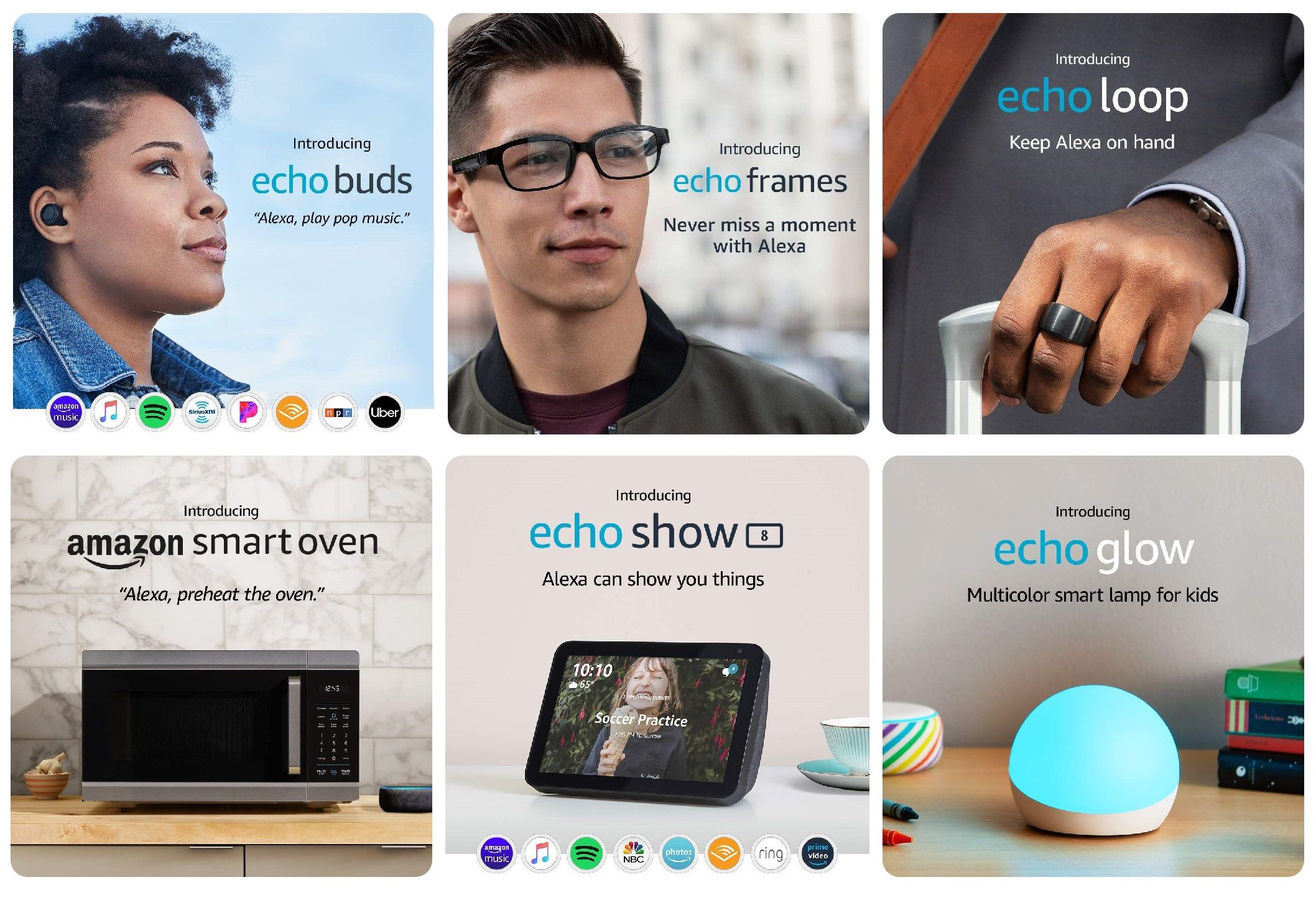 Echo Buds, Echo Frames, Amazon Smart Oven (e non solo) ufficiali: Alexa integrato in occhiali, cuffie e in un forno