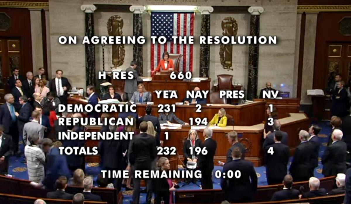 Giovedì il primo sì della Camera sulla procedura di impeachment nei confronti di Trump