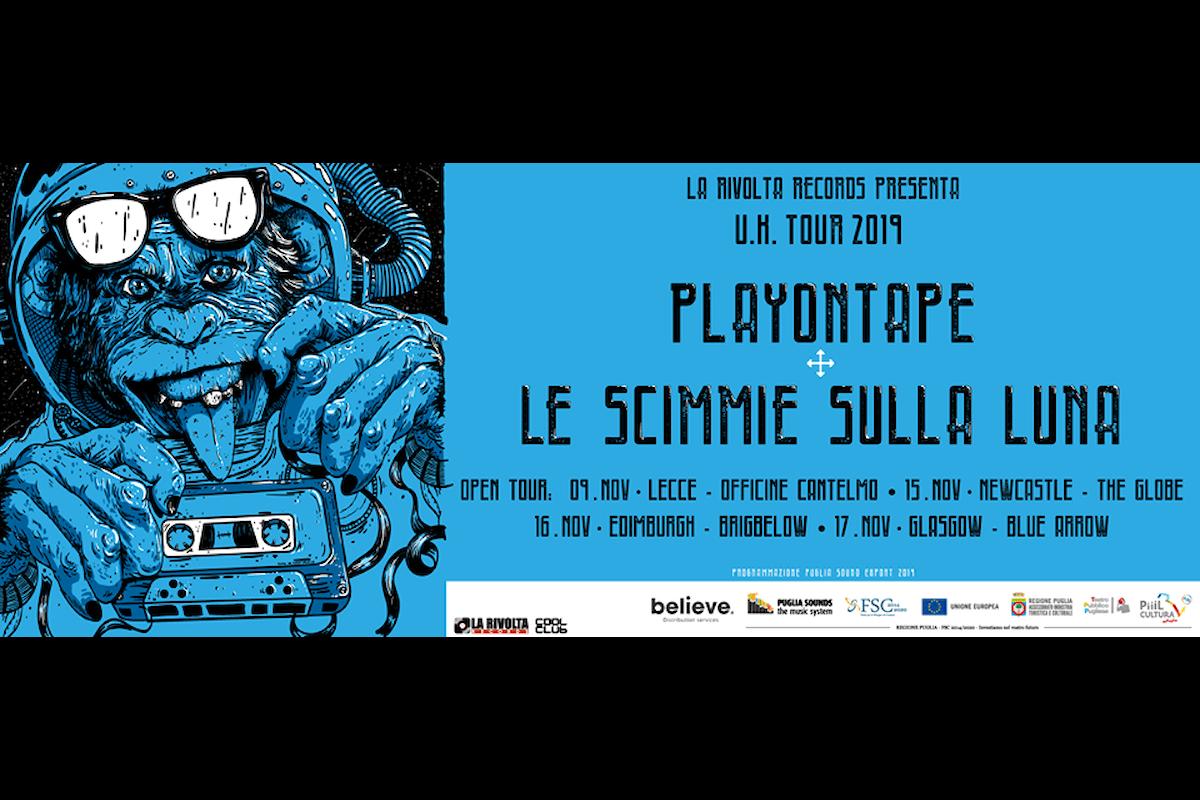"""Playontape e le Scimmie sulla Luna presenteranno in anteprima a Lecce """"PLAYTHEMONKEYS & UK TOUR 2019"""""""