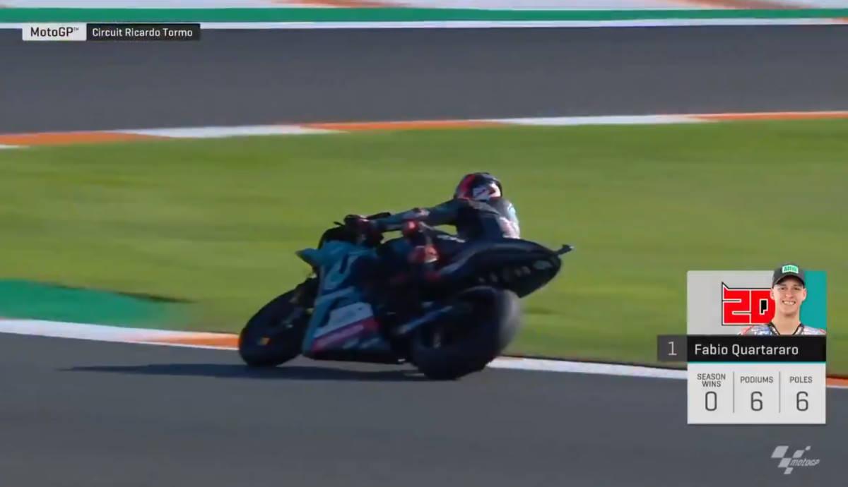 MotoGP, di nuovo pole per Quartararo nel GP di Valencia