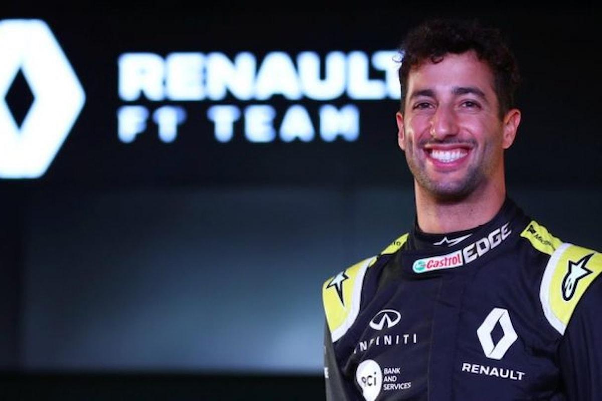 Daniel Ricciardo pilota F1 e volto dello spot Renault Clio 2019