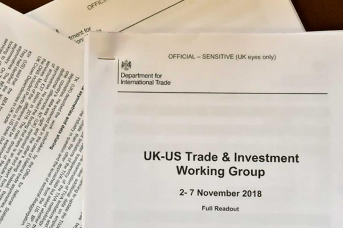 L'accordo commerciale (riservato) post Brexit tra UK e Usa è finito su Reddit