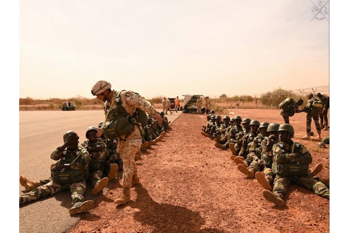 Niger, i parà della Folgore addestrano i militari nigerini