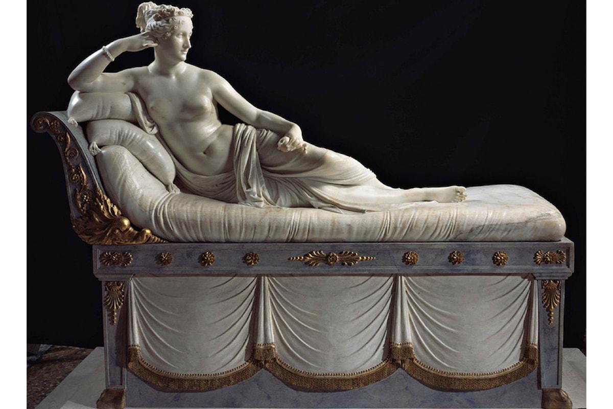 Canova, Paolina Borghese nel ruolo di Venere Vittoriosa