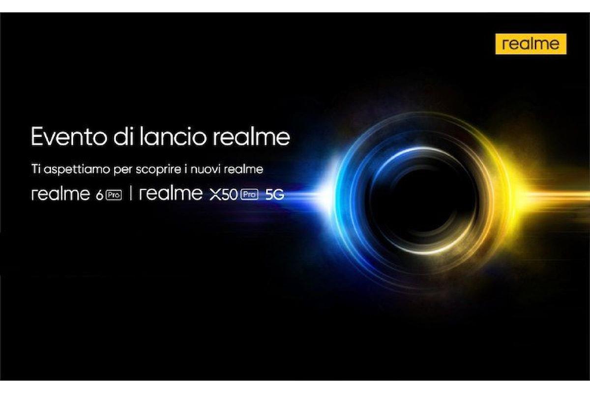 Realme 6 Pro e Realme X50 Pro 5G sono stati lanciati ufficialmente in Italia, ecco la presentazione in streaming