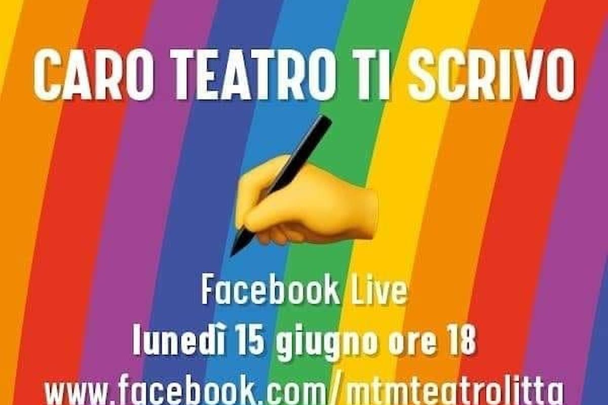 Tracciare le basi per un ritorno: Pagina Facebook di MTM teatro Litta, oggi