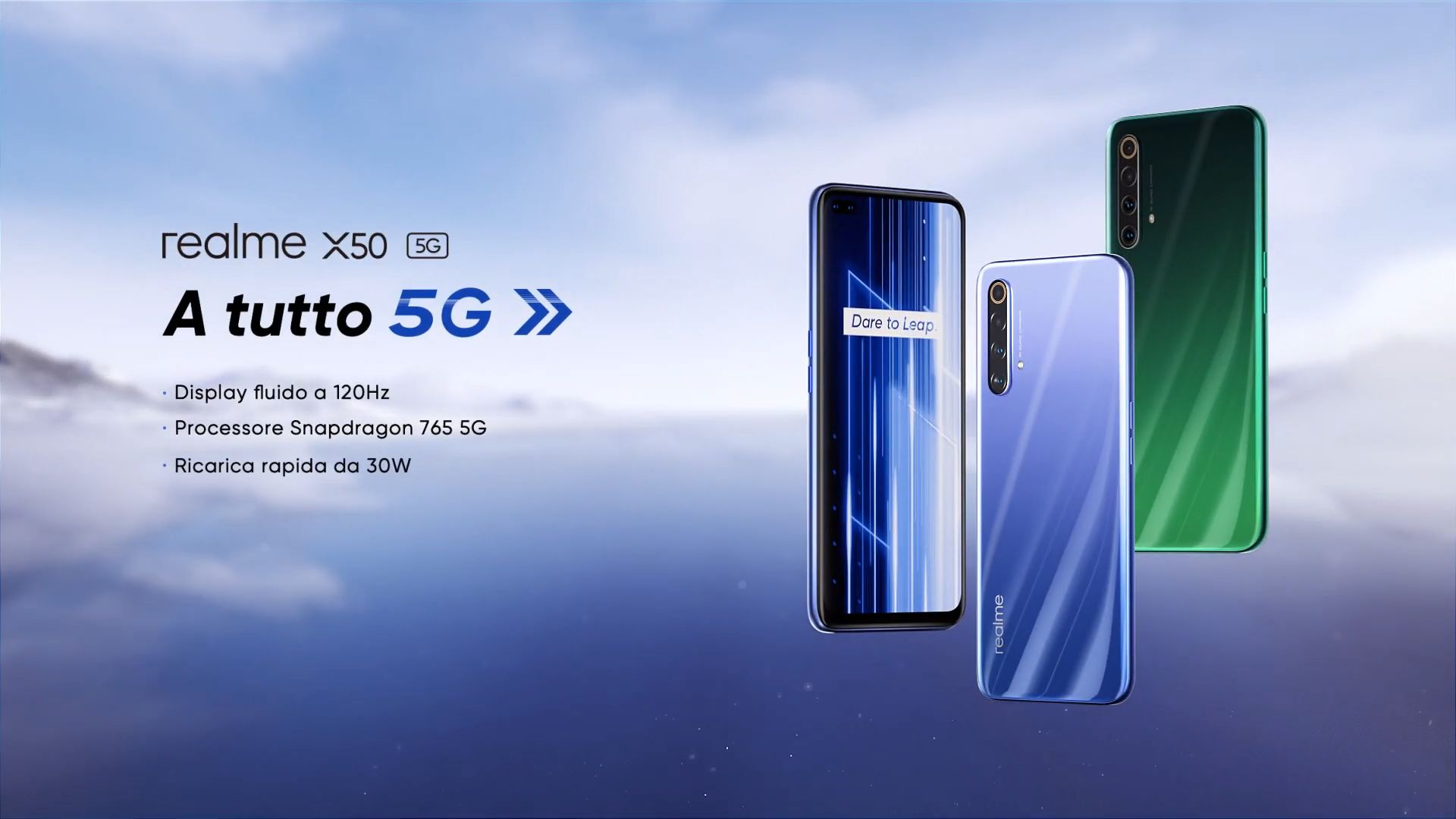 Realme X50 5G arriva ufficialmente in Italia: un nuovo smartphone 5G ad un prezzo contenuto (e con display a 120Hz)