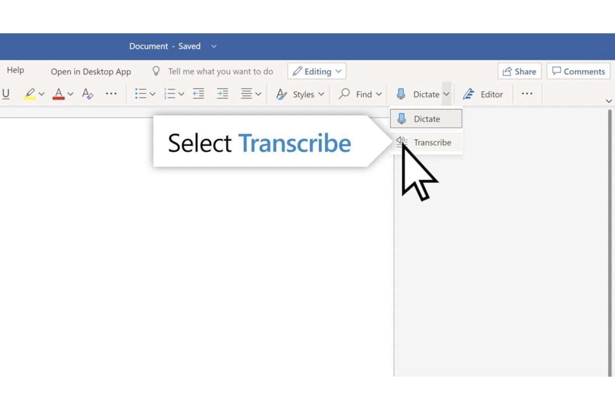 Nuova funzionalità su MS Word: Microsoft inserisce Transcribe