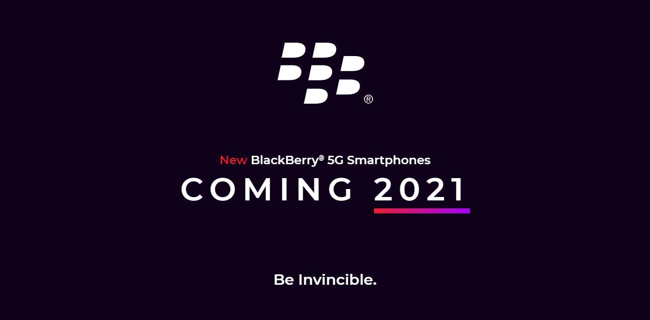 Nel 2021 ci sarà il ritorno di BlackBerry con uno smartphone 5G dotato di tastiera fisica