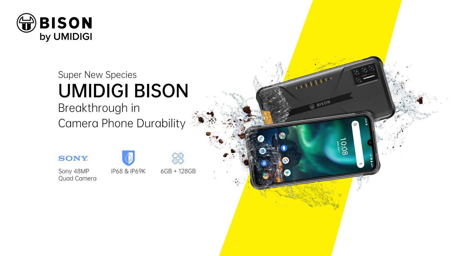 UMIDIGI BISON presentato ufficialmente: il rugged phone dal design elegante