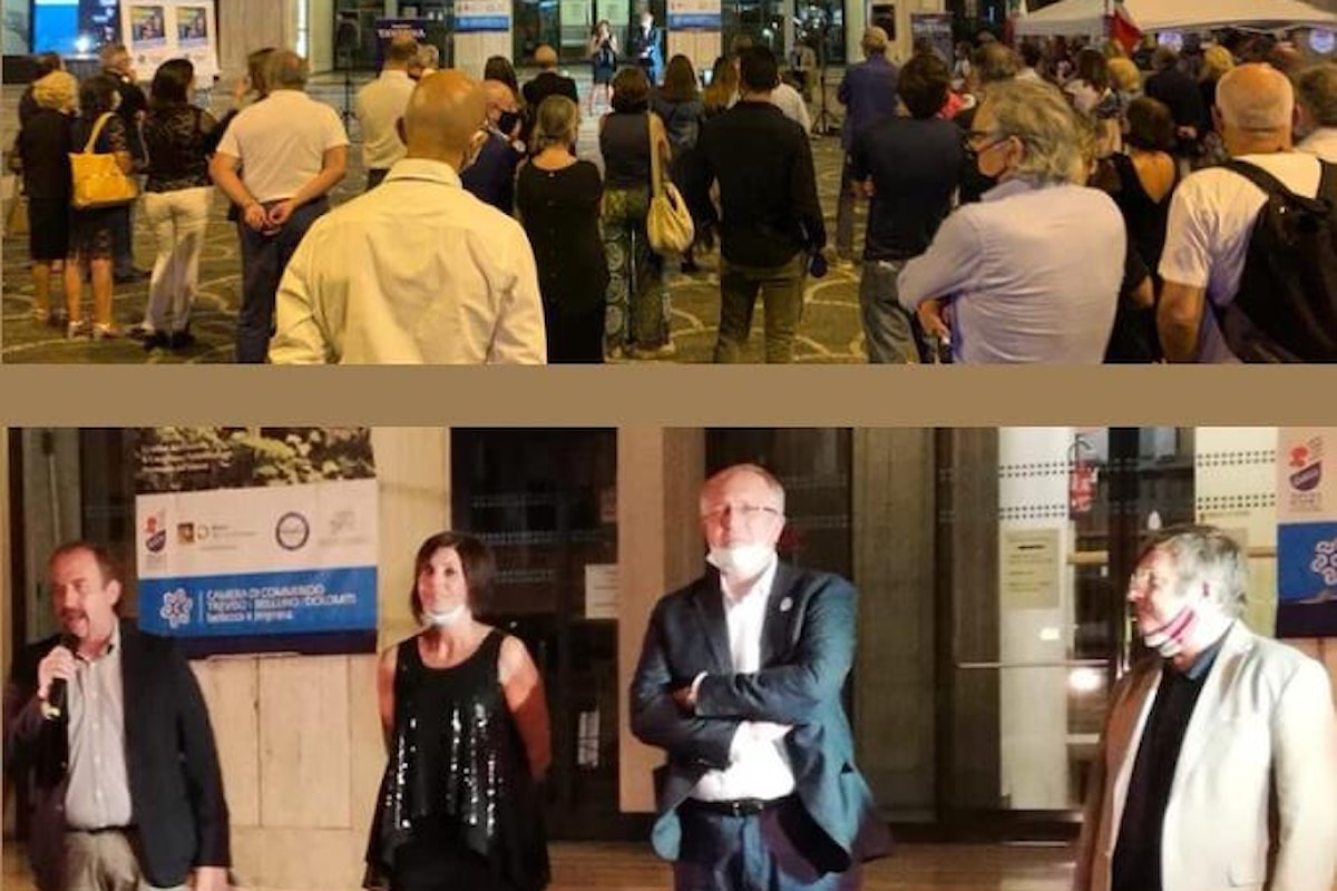 Elezioni regionali in Veneto. A Treviso un vero successo la chiusura della campagna per Sandro Taverna e Barbara Haas di Fratelli d'Italia in piazza Borsa