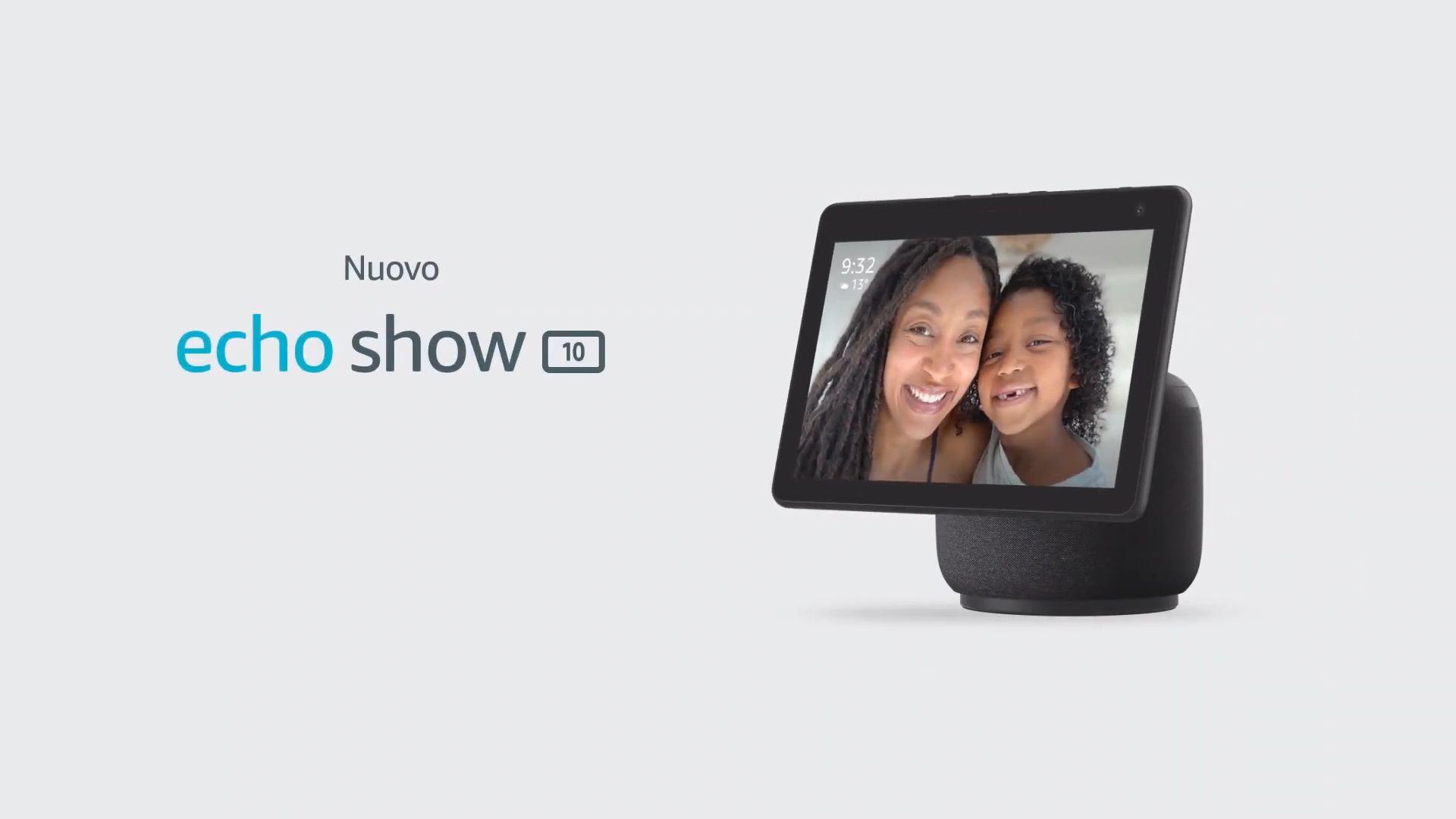 Amazon Echo Show 10 è stato presentato ufficialmente: il nuovo smart speaker con display ed Alexa è molto interessante
