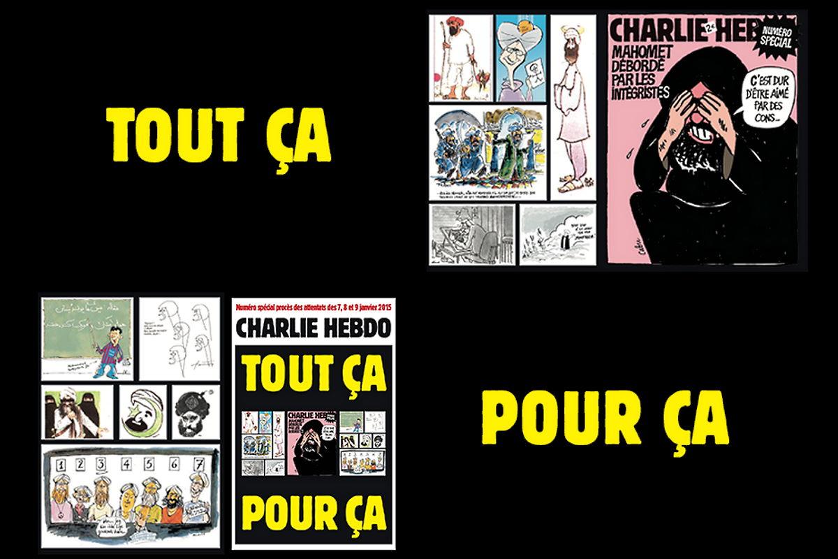 Inizia in Francia il processo per le stragi del 2015 e Charlie Hebdo ripubblica le vignette su Maometto