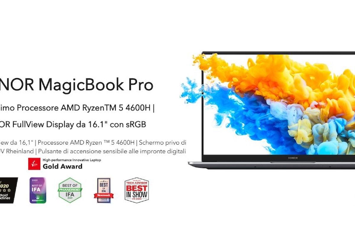 L'interessante HONOR MagicBook Pro da oggi può essere acquistato anche in Italia