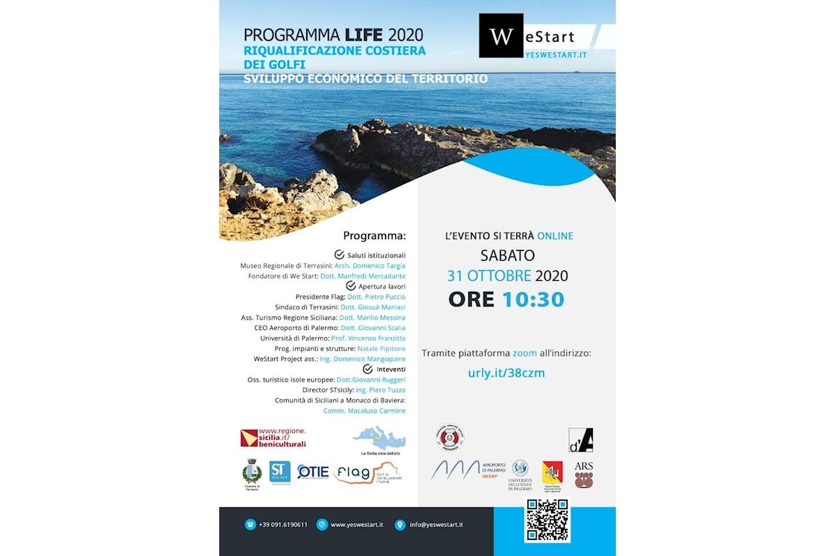"""""""Programma Life 2020"""", evento on line di WeStart - Sabato 31 ottobre 2020, ore 10.30 dalla Piattaforma Zoom"""