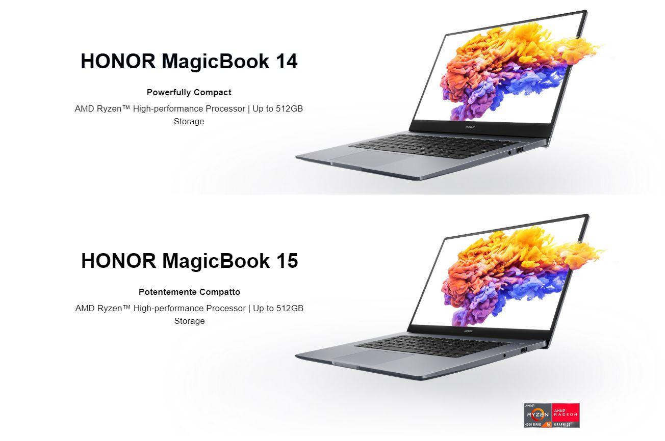I nuovi HONOR MagicBook 14 e HONOR MagicBook 15 da oggi arrivano in Italia