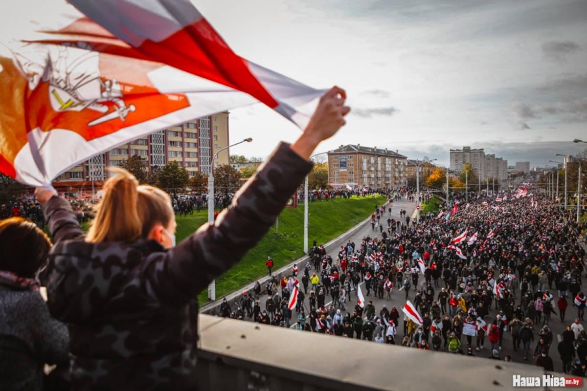 22 novembre, proseguono in Bielorussia le manifestazioni contro Lukashenko