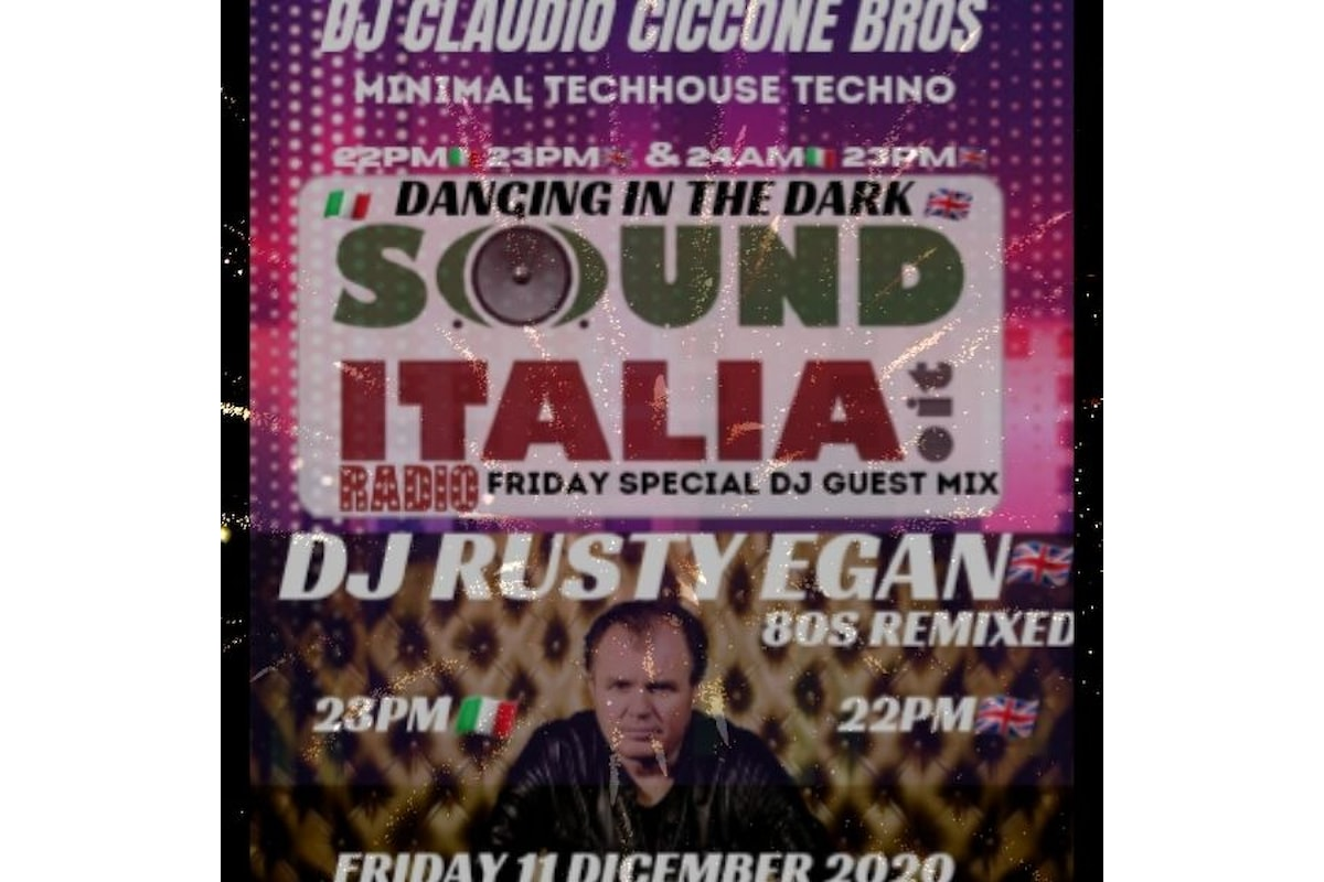 Dj Rusty Egan Special Guest 80s Set with Dj Claudio Ciccone Bros.