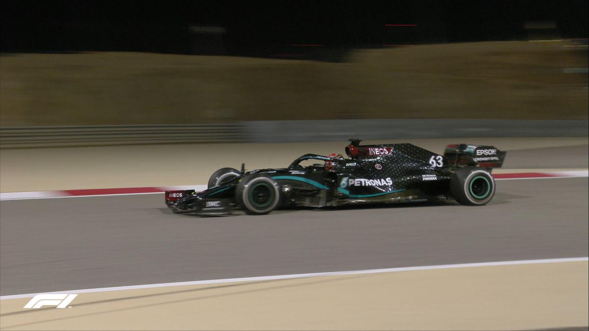 Formula 1, George Russell su Mercedes è stato il più veloce nelle libere del GP di Sakhir