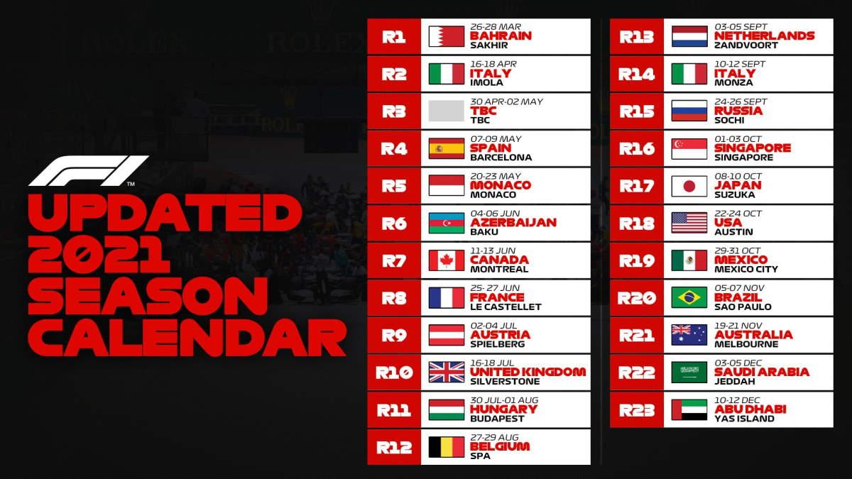 È ufficiale, la stagione di F1 inizia in Bahrain. Si correrà anche a Imola