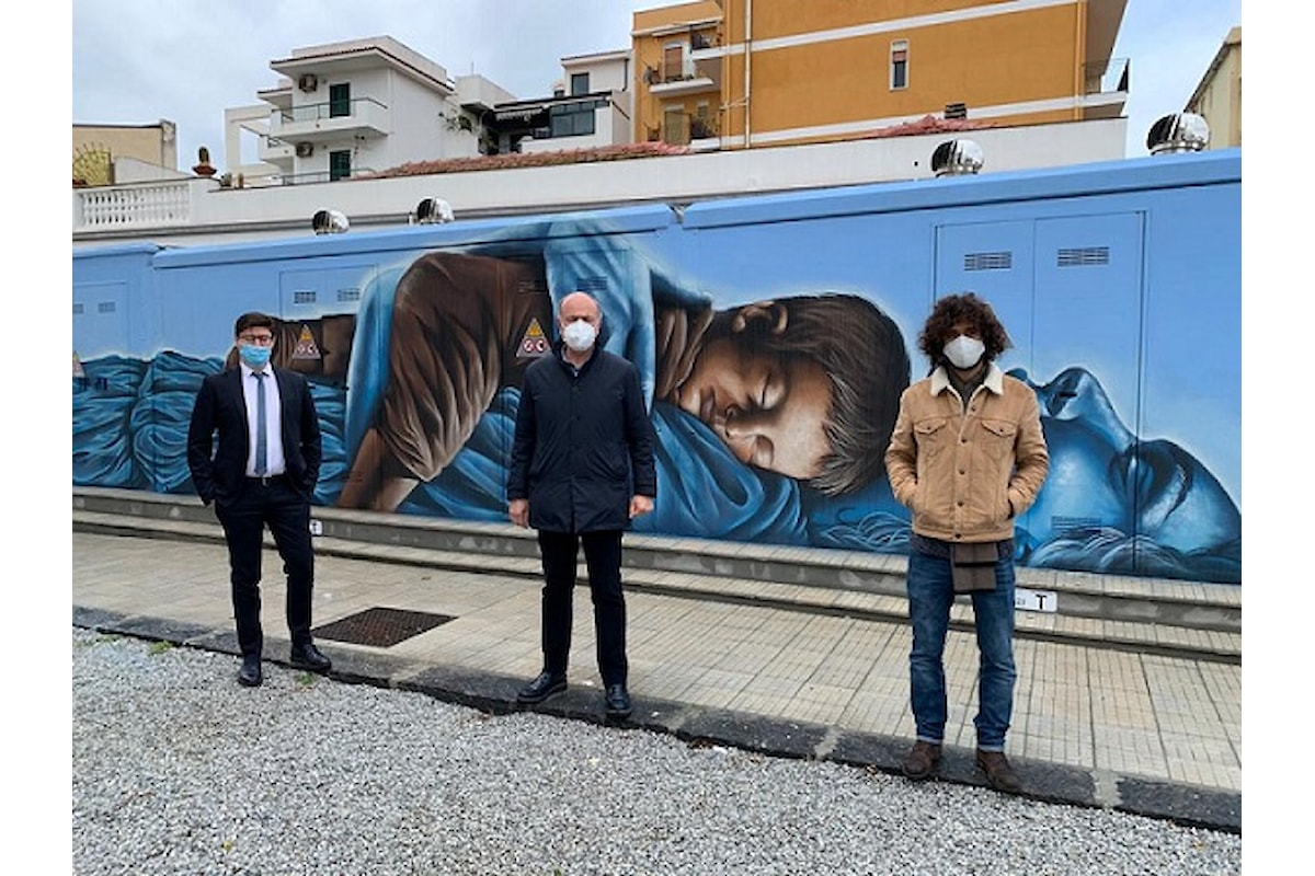 Milazzo (ME) - Inaugurato murales su cabina elettrica