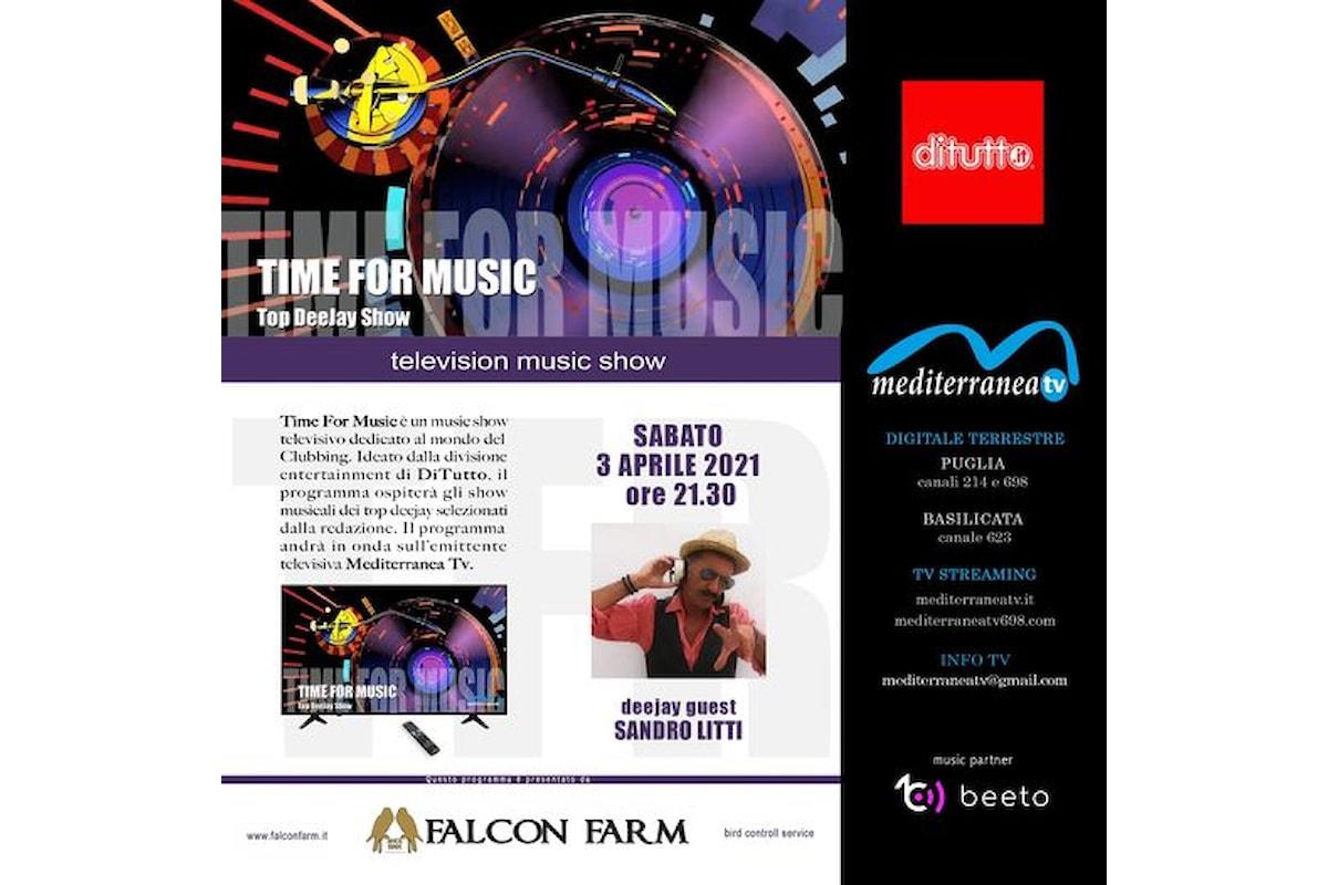 Time for Music by DiTutto: il 3 aprile 2021 c'è Sandro Litti