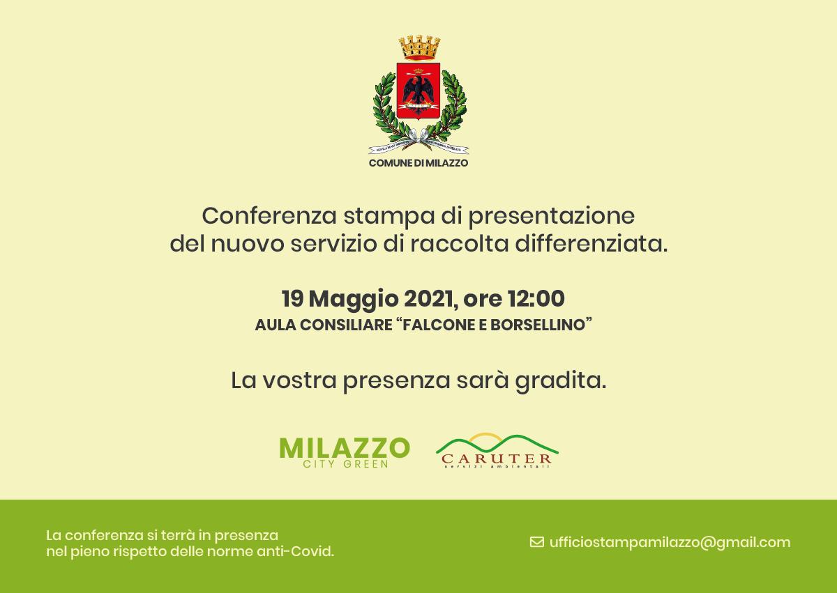 Milazzo (ME) - Raccolta differenziata, mercoledì conferenza stampa Caruter e Comune