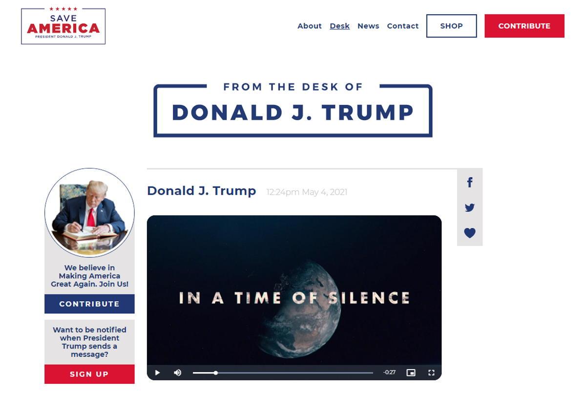 Trump lancia il proprio sito web a poche ore dal conoscere se Facebook gli riattiverà o meno l'account