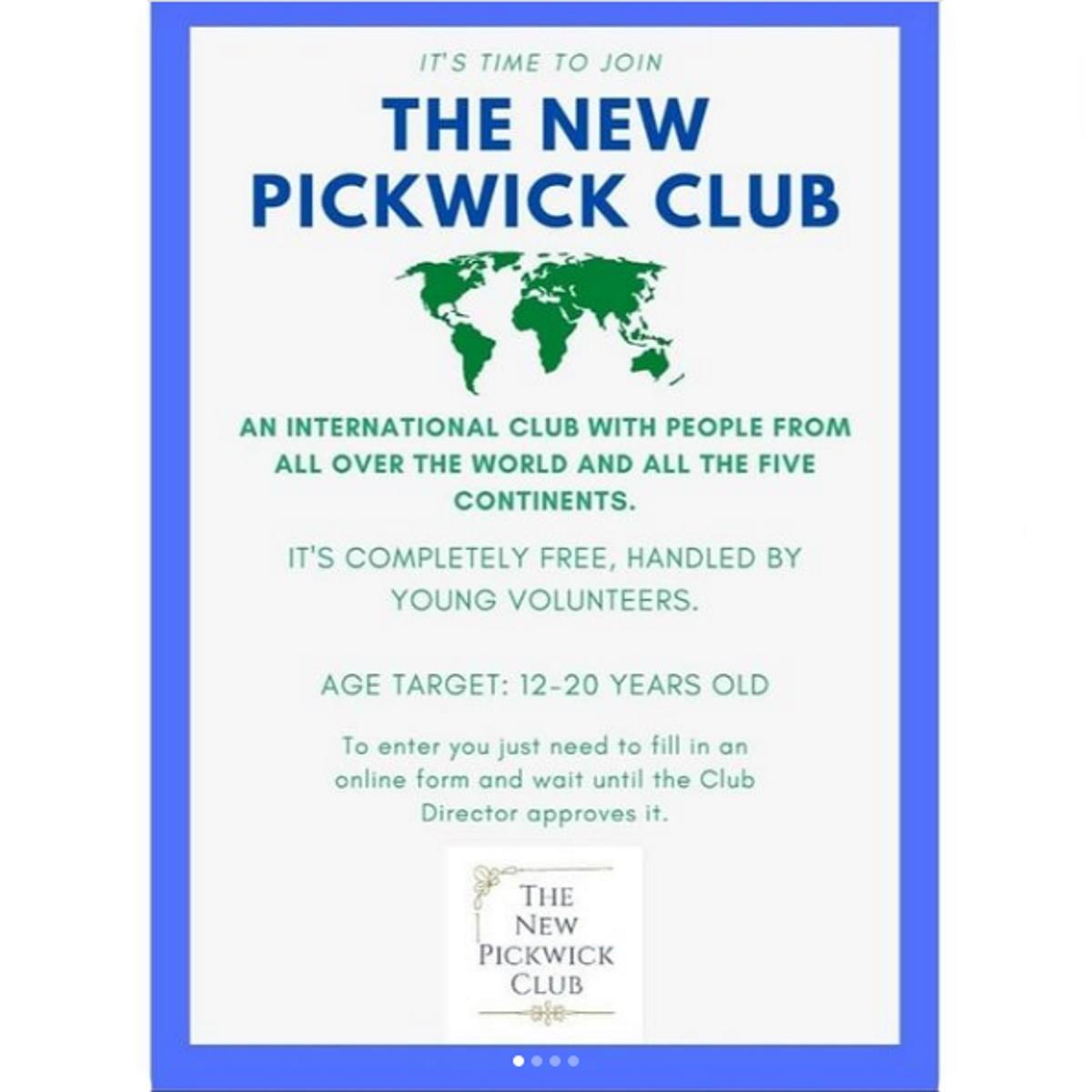 THE NEW PICKWICK CLUB: gruppo culturale internazionale gratuito gestito da giovani volontari