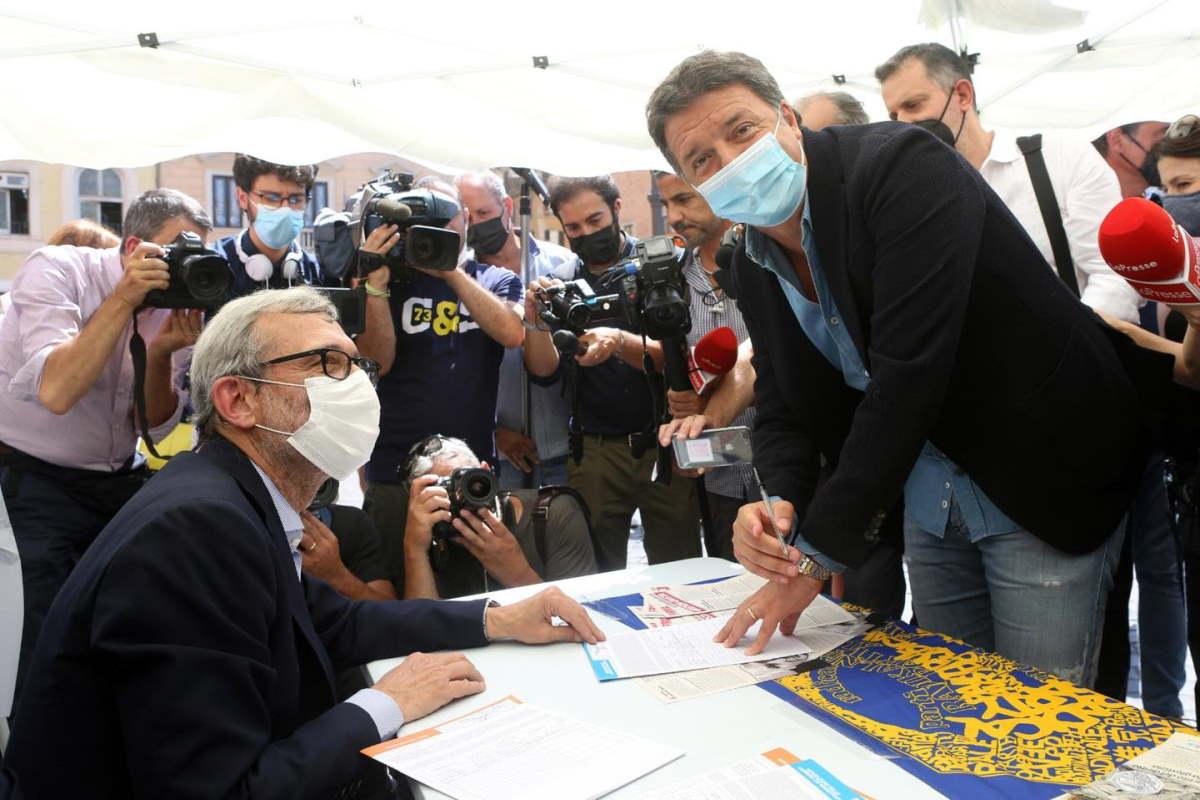 L'incredibile Renzi firma i referendum sulla Giustizia di Salvini