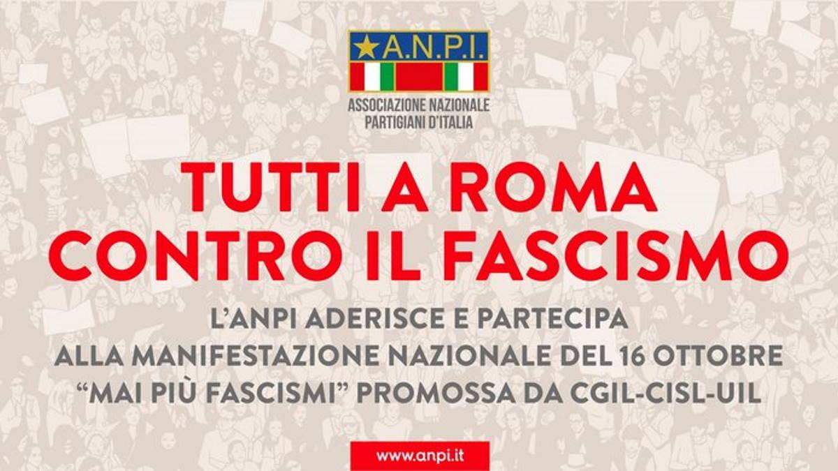 Anche l'Anpi supporta la manifestazione del 16 ottobre organizzata dalla Cgil