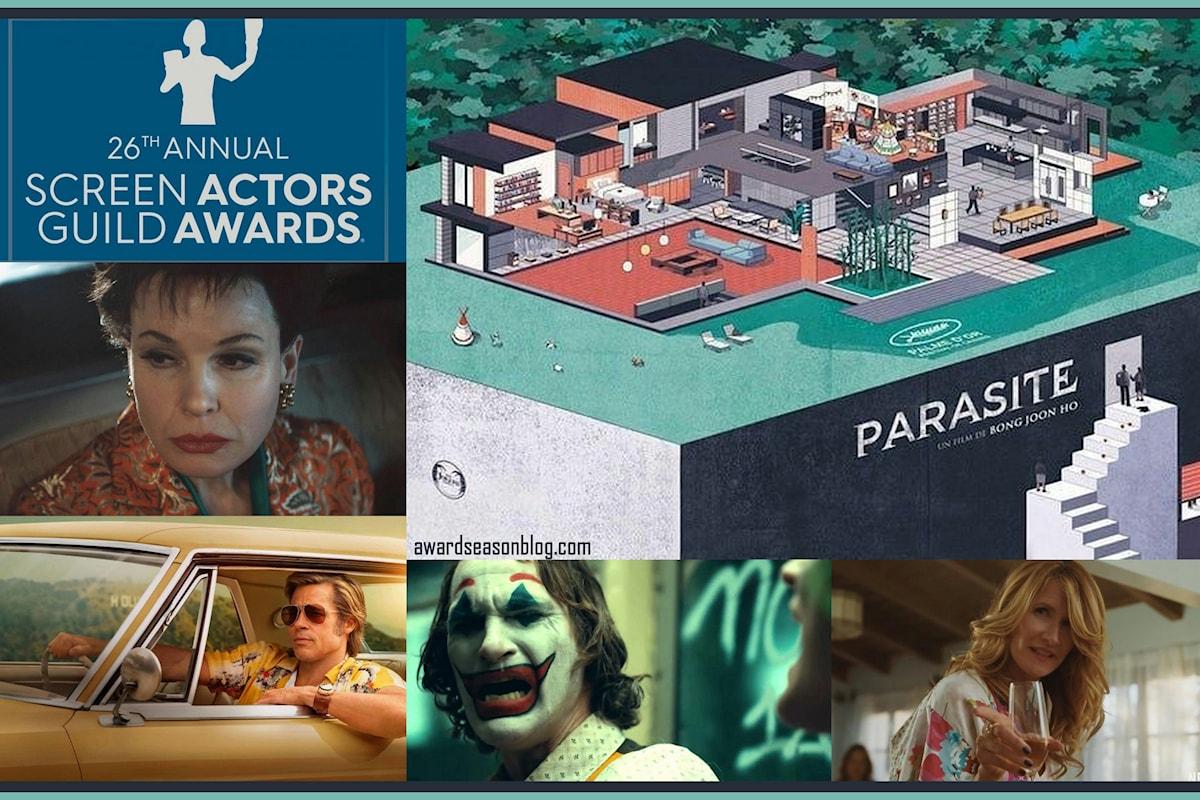 Screen Actors Guild Awards: Zellweger, Phoenix, Pitt, Dern e Parasite ipotecano la vittoria agli Oscar