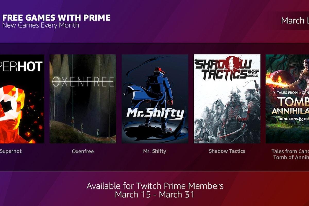 Gli utenti Amazon Prime avranno videogame gratis con Free Games with Prime!