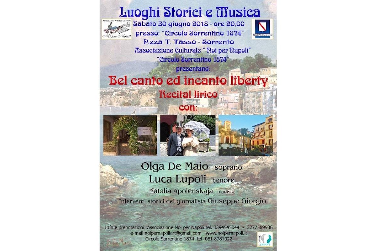 Bel canto ed incanto liberty