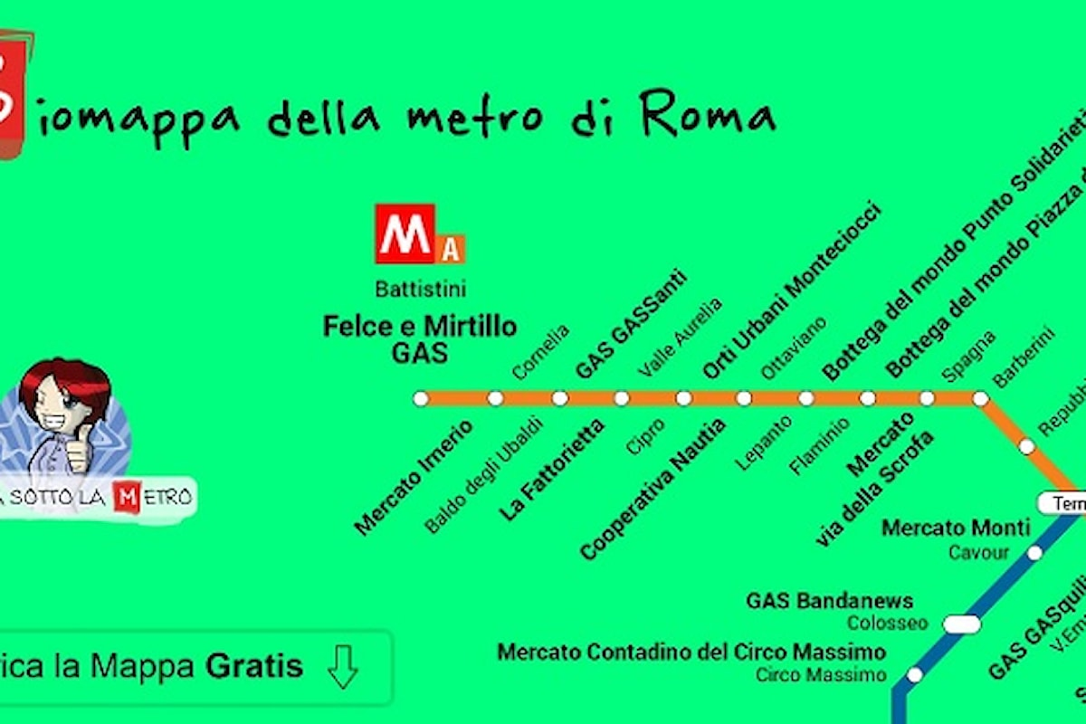 Giulia sotto la metro per Roma sostenibile: la biomappa della metro per gli acquisti consapevoli