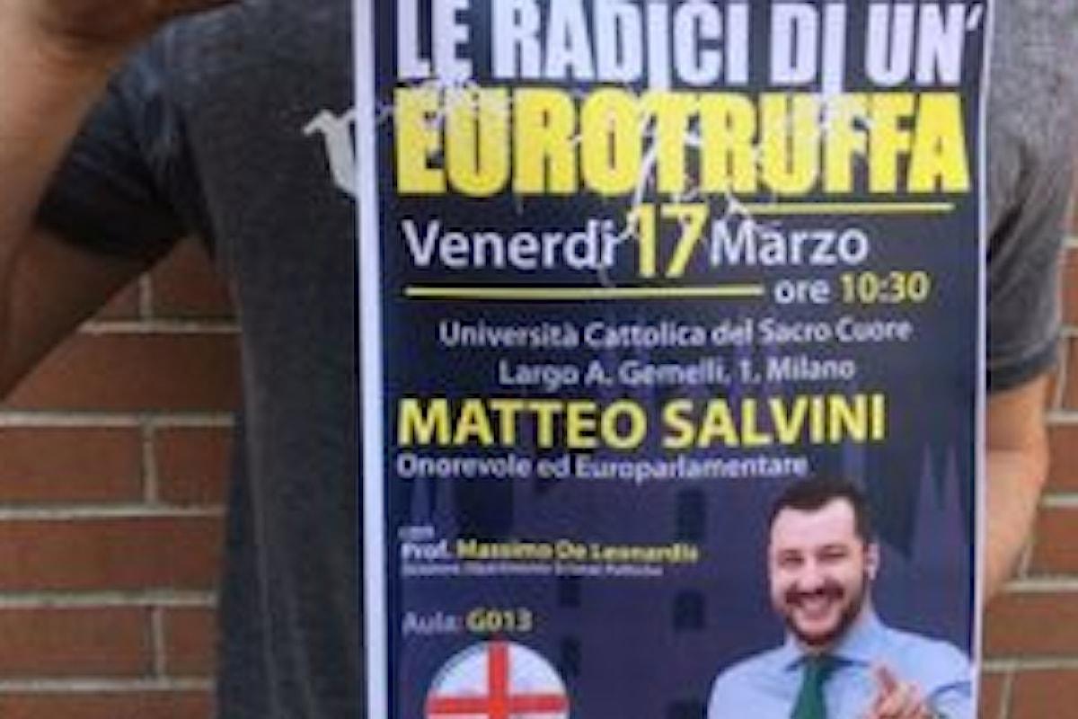 Matteo Salvini e la censura dell'università Cattolica