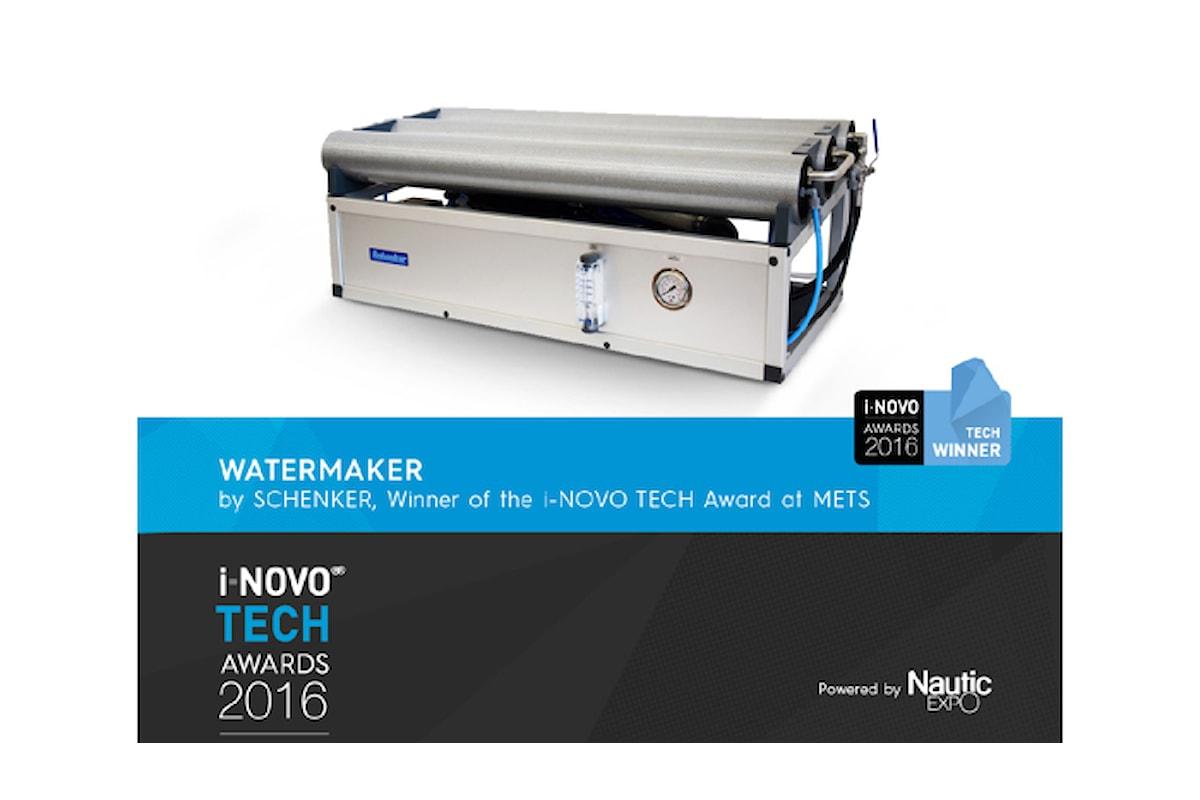 """Il dissalatore Schenker Modular 300 conquista il premio """"I-NOVO TECH AWARDS 2016"""""""