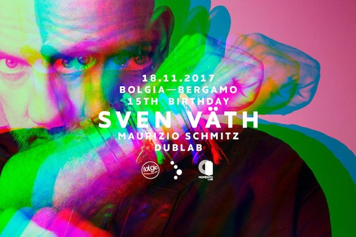 18 novembre, Sven Väth fa ballare il Bolgia di Bergamo