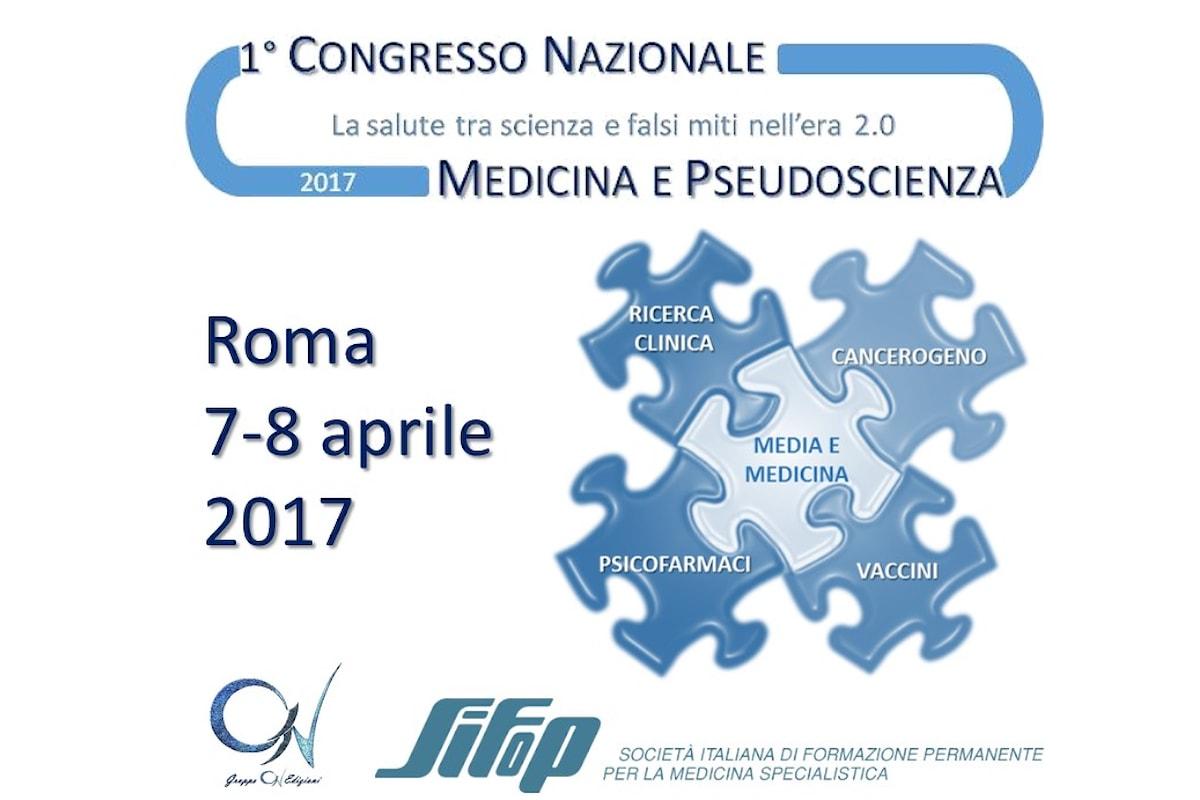 Medicina e pseudoscienza: la salute tra scienza e falsi miti. Congresso nazionale per i professionisti della salute promosso dal Gruppo C1V