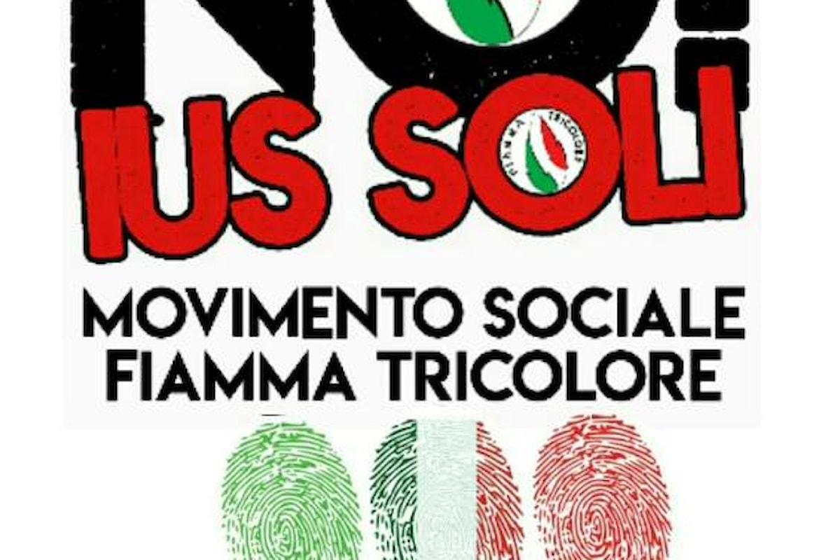 Petizione NO IUS SOLI del Movimento Sociale FT