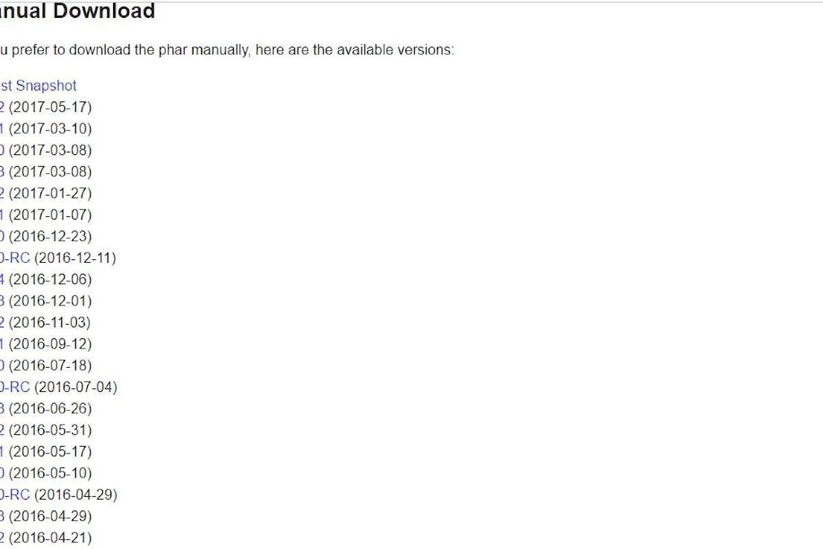PHP Gestore Composer per scaricare le librerie