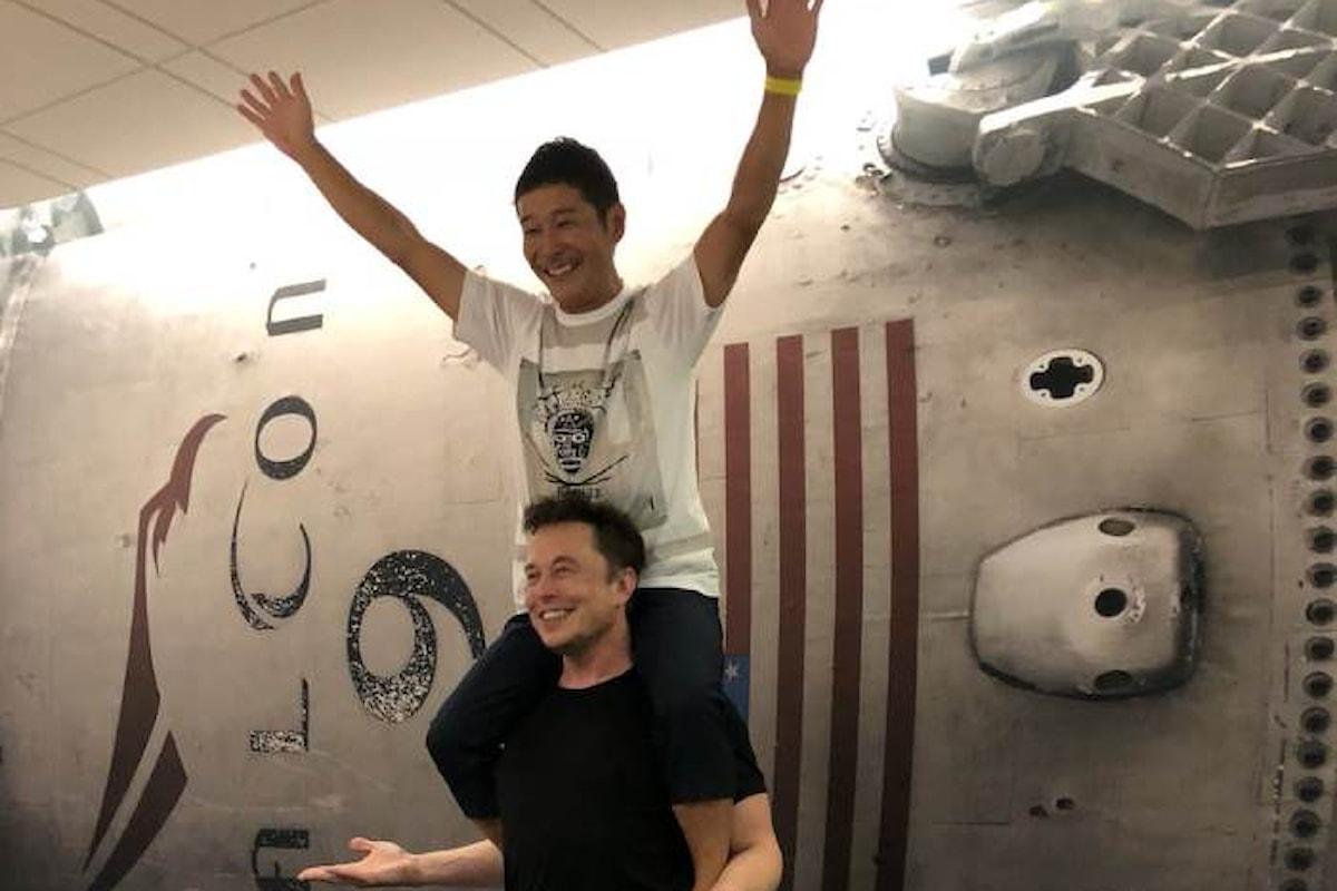 Svelato da Musk il primo passeggero che volerà intorno alla luna sul Big Falcon Rocket